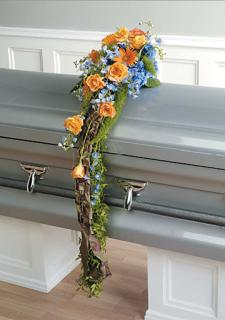 Orange & Blue Casket Scarf