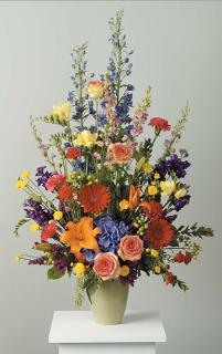 Rainbow Stylized Vase Arrangement