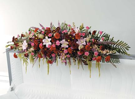 Mixed Flower Casket Adornment